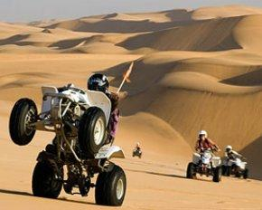 Quad bikes in the dunes